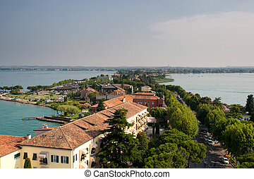 Sirmione - View from The Scaliger Castle at Sirmione, Lake...