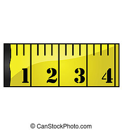 Measuring tape - Glossy illustration of a yellow measuring...