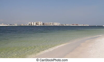 Condominiums Destin Beach - Viewed from across Destin Pass...