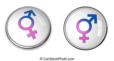 Button Combined Male/Female Symbol
