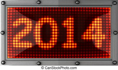 2014 announcement on the LED display