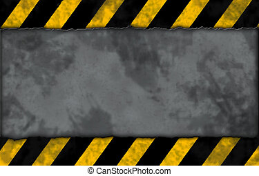 under construction - striped warning background -...