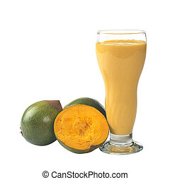 Milkshake out of the Peruvian fruit called Lucuma (lat....