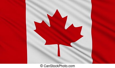 Canada flag, with real structure of a fabric