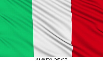 Italian flag, with real structure of a fabric