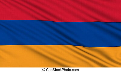 Armenian Flag, with real structure of a fabric