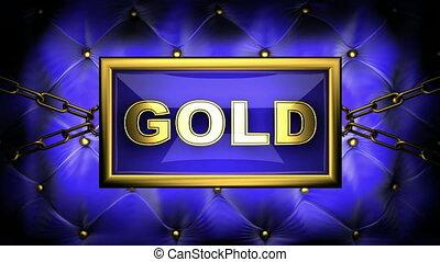gold on velvet background