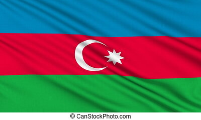Azerbaijan Flag, with real structure of a fabric