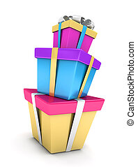 Stack of Gifts - 3D Illustration of a Stack of Gifts