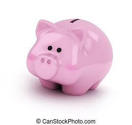 Piggy Bank - 3D Illustration of a Piggy Bank