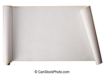 scroll - stock image of scroll of paper