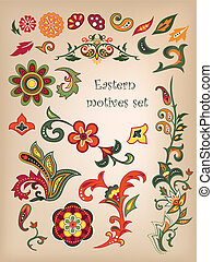 Eastern patterns - Colorful Eastern patterns set.