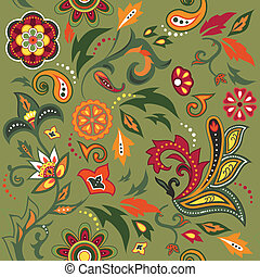 Eastern patterns seamless - Colorful seamless with eastern...