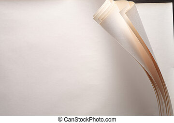 paper curl - stock image of the paper with corner curl