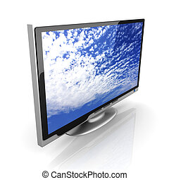 HDTV - 3D rendered Illustration