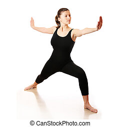 Yoga workout - A picture of a young woman practising yoga...