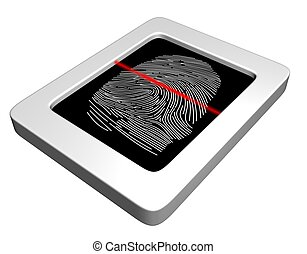 Fingerprint scanner - Illustration of a fingerprint scanner...