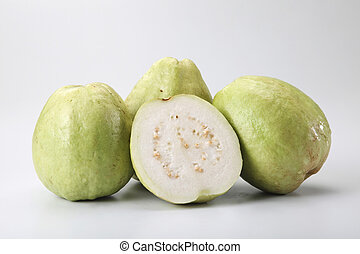 guava - fresh guava on the plain background