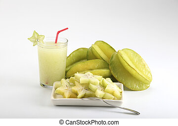 star fruit - healthy drink and food -star fruit