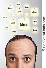 Young man having an idea