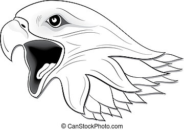 Eagle 3 - illustration of eagle black and white
