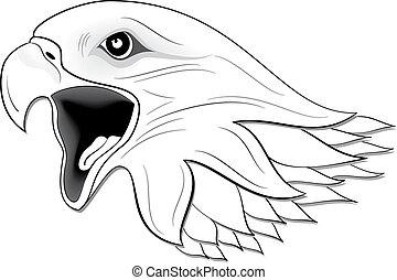 Clip art et illustrations de tatouage 107 076 dessins et - Comment dessiner un aigle royal ...