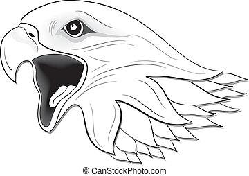 Eagle 03 - illustration vector for eagle set colored