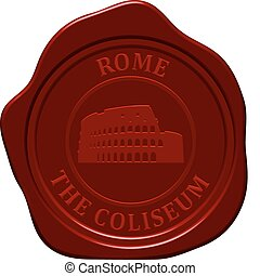 coliseum sealing wax - Coliseum. Sealing wax stamp for...