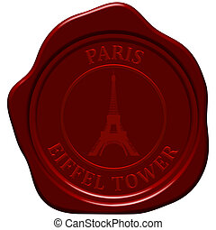 eiffel tower sealing wax - Eiffel tower. Sealing wax stamp...