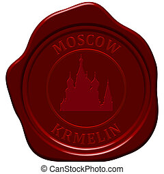kremlin cathedral sealing wax - Kremlin cathedral. Sealing...
