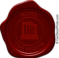 forum sealing wax - The forum. Sealing wax stamp for design...