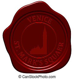 St. Mark's square sealing wax - St. Mark's square. Sealing...