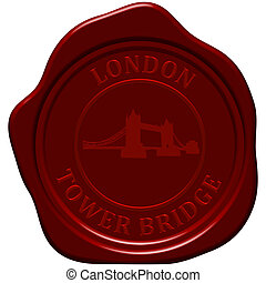 tower bridge seaaling wax - Tower Bridge. Sealing wax stamp...
