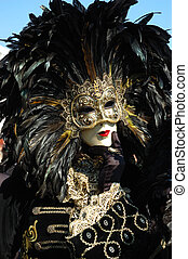 Man in birds costume,carnival - Man in birds costume at St...