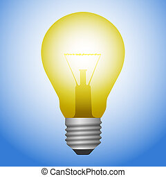 Light Bulb  - A Vector Illustration of Light Bulb
