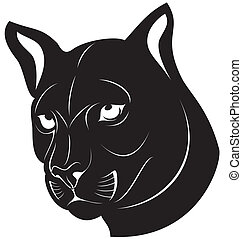 Cat Silhouette - illustration of silhouette tiger or cat