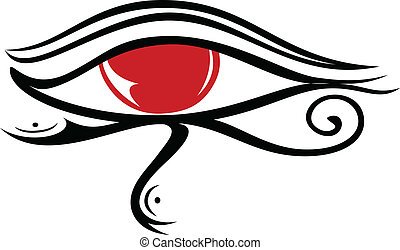 Egyptian Eye Ra 2 - illustration of Egyptian god eye Ra