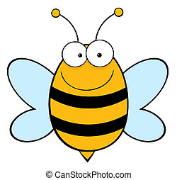 Happy Bee - Bee Mascot Cartoon Character