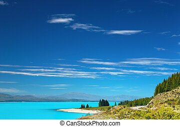Lake Pukaki, New Zealand - Lake Pukaki, Southern Alps, New...