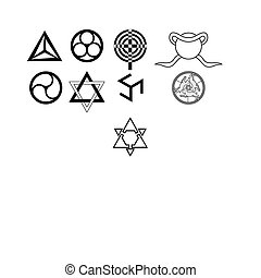 Runes. occult symbols - runes and occult symbols isolated on...