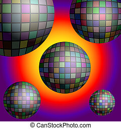 fond, balle,  eps10,  disco