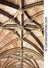 Arched ceiling - Detailed view of the arched ceiling of St...
