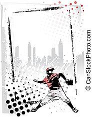 baseball vertical frame