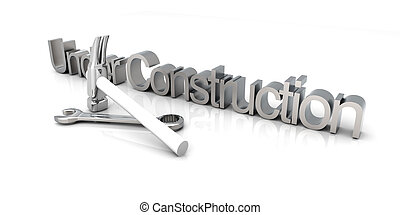 Under Construction - 3D Illustration. Website is under...
