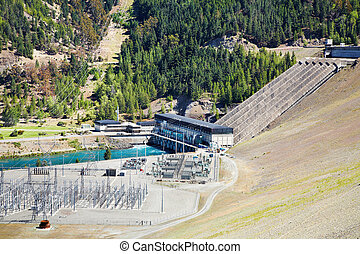 Lake Benmore hydroelectric dam, New Zealand