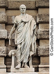 Statue of Cicero in front of the Palace of Justice in Rome...