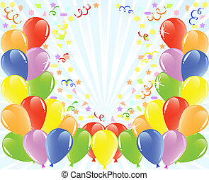 vector illustration of a balloons background with space for text.