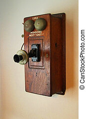 Old Time Phone - An old tme phone of the type found in 19th...