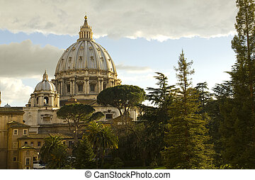 Cupola of St. Peter's Basilica, Rome, Vatican State.