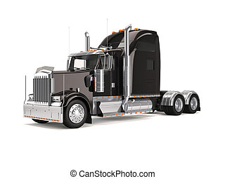 black american truck - Black american truck isolated on...